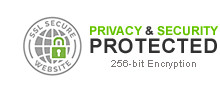 256-bit Encryption Secure Website